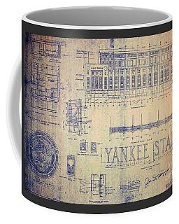 Vintage Yankee Stadium Blueprint Coffee Mug