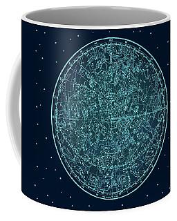 Vintage Zodiac Map - Teal Blue Coffee Mug