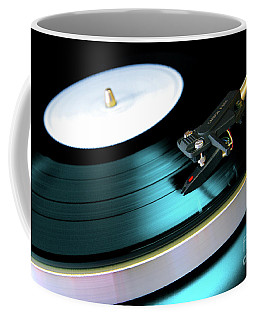 Vinyl Record Coffee Mug by Carlos Caetano