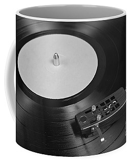 Vinyl Record Playing On A Turntable Overview Coffee Mug