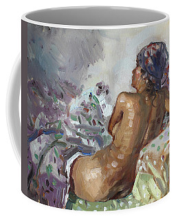Nude In Violet Coffee Mug