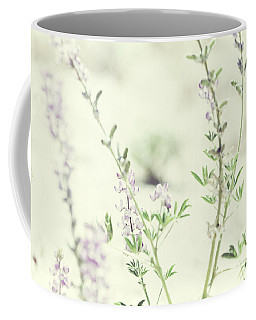 Violet And Green Bloom Coffee Mug