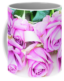 Violet Blooming Roses Coffee Mug