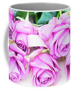 Violet Blooming Roses Coffee Mug by Anastasy Yarmolovich