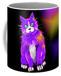 Violet Dizzycat Coffee Mug