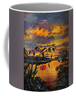 Violet Gold And Green Coffee Mug