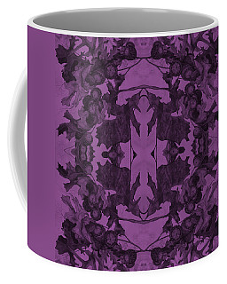 Violet Oak Tree Pattern Coffee Mug