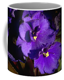 Coffee Mug featuring the photograph Violets by Phyllis Denton