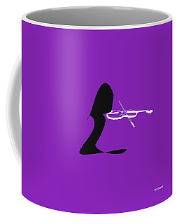 Coffee Mug featuring the digital art Violin In Purple by Jazz DaBri