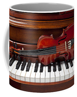 Violin On Piano Coffee Mug