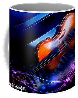 Violin On Piano  Coffee Mug