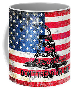 Viper N Bullet Holes On Old Glory Coffee Mug by M L C