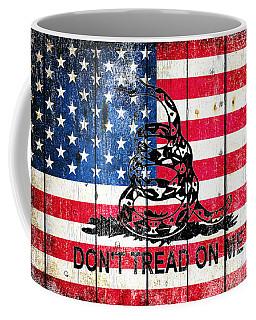 Viper On American Flag On Old Wood Planks Coffee Mug