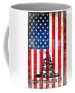 Viper On American Flag On Old Wood Planks Vertical Coffee Mug