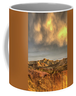 Virga Over The Badlands Coffee Mug