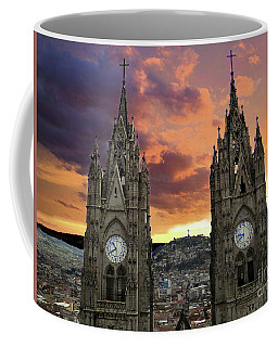 Virgen De El Panecillo And Basilica Del Voto Nacional IIi Coffee Mug