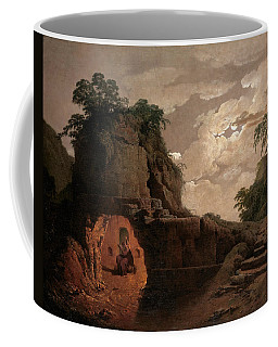 Coffee Mug featuring the painting Virgil's Tomb By Moonlight With Silius Italicus Declaiming by Joseph Wright of Derby