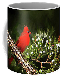 Coffee Mug featuring the photograph Virginia State Bird by Darren Fisher