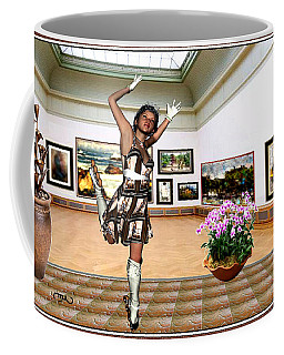 Virtual Exhibition - A Girl With A Pairro Dress Coffee Mug by Danail Tsonev