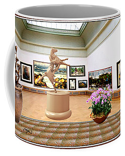 Virtual Exhibition - A Modern Horse Statue Coffee Mug by Pemaro