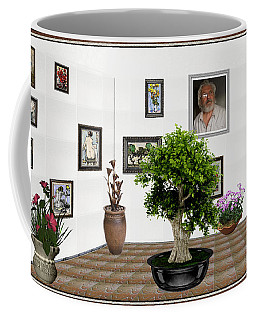 Coffee Mug featuring the mixed media Virtual Exhibition -  Bonsai 13 by Pemaro