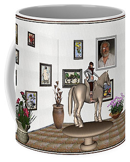 Virtual Exhibition Horsewoman 13 Coffee Mug by Pemaro