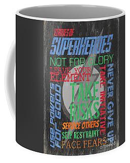 Virtues Of Superheroes Coffee Mug