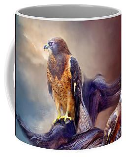 Coffee Mug featuring the mixed media Vision Of The Hawk 2 by Carol Cavalaris