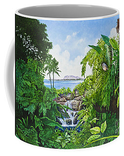 Coffee Mug featuring the painting Visions Of Paradise Ix by Michael Frank
