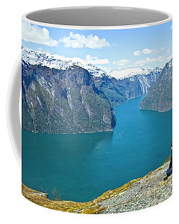 Visitor At Aurlandsfjord Coffee Mug