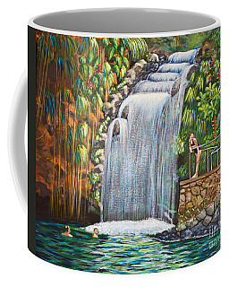 Visitors To The Falls Coffee Mug