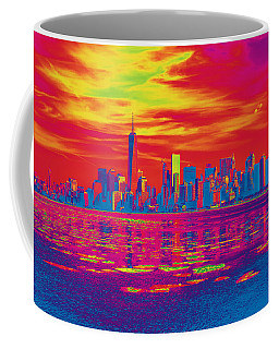 Vivid Skyline Of New York City, United States Coffee Mug