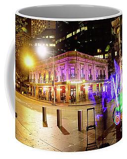 Coffee Mug featuring the photograph Vivid Sydney Circular Quay By Kaye Menner by Kaye Menner