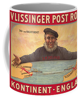 Vlissinger Post Route - Zeeland Maritime Company Poster - London To Flushing Ship Route Coffee Mug