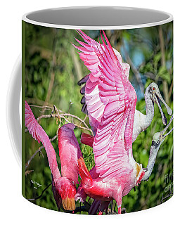 Vocal Roseate Spoonbill Mates Coffee Mug