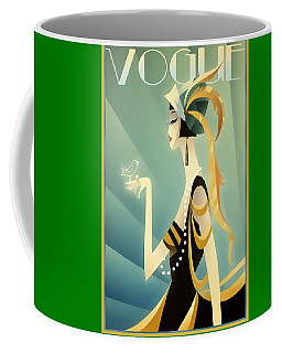 Coffee Mug featuring the digital art Vogue - Bird On Hand by Chuck Staley