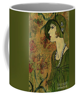 Coffee Mug featuring the painting Vogue Twenties by P J Lewis