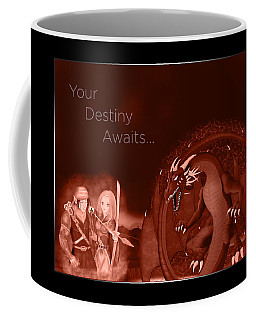 Coffee Mug featuring the digital art Volcanic Destiny by Raphael Lopez