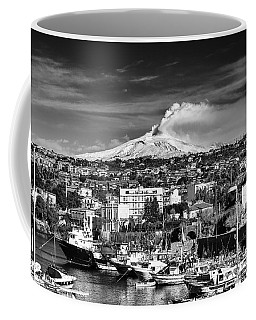 Volcano Etna Seen From Catania - Sicily. Coffee Mug