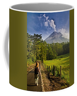 Coffee Mug featuring the photograph Volcano Path by Rikk Flohr