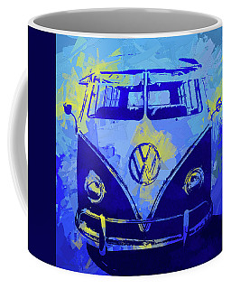 Volkswagen Bus Pop Blue Coffee Mug