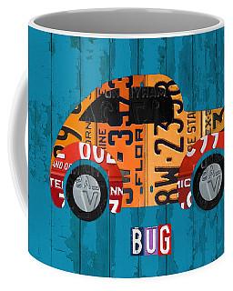 Volkswagen Vw Bug Vintage Classic Retro Vehicle Recycled License Plate Art Usa Coffee Mug