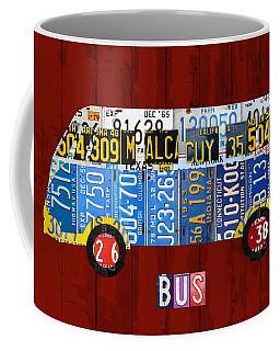 Volkswagen Vw Bus Vintage Classic Retro Vehicle Recycled License Plate Art Usa Coffee Mug