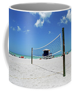 Coffee Mug featuring the photograph Volley Ball On The Beach by Gary Wonning