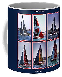 Volvo Ocean Race Newport 2015 Coffee Mug by Tom Prendergast