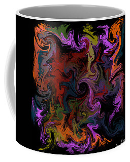 Coffee Mug featuring the digital art Vortex One by Iowan Stone-Flowers