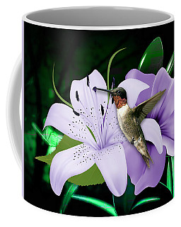 Coffee Mug featuring the mixed media Voyage Hummingbird by Marvin Blaine