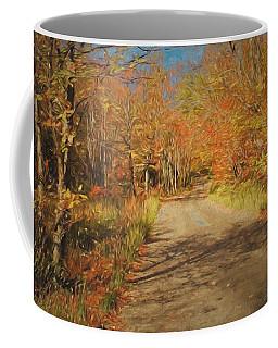 Coffee Mug featuring the digital art Vt.rte. Fifty Eight Hazen  Notch by John Selmer Sr
