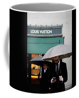 Coffee Mug featuring the photograph Vuitton by Empty Wall