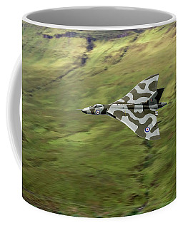 Vulcan B2 Low-level Against Hillside Coffee Mug by Gary Eason
